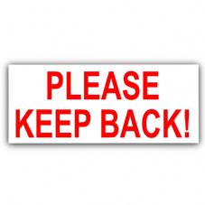 1 x Please Keep Back!-Vehicle Learning New Driver Car Van Driving School Sticker Notice Sign